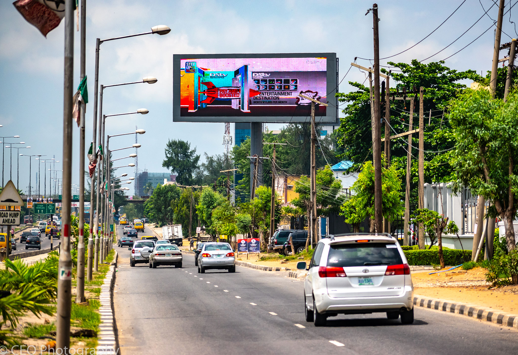 Digital LED billboard in Lagos extends. Global Out of Home Media's offering in Lagos